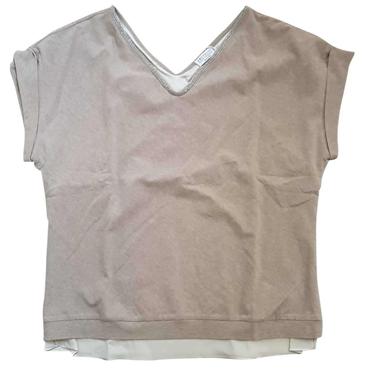 Brunello Cucinelli \N Beige Cotton  top for Women S International