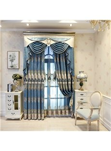 European Style Luxury and Elegant Embroidery High Quality Polyester Sheer Curtains