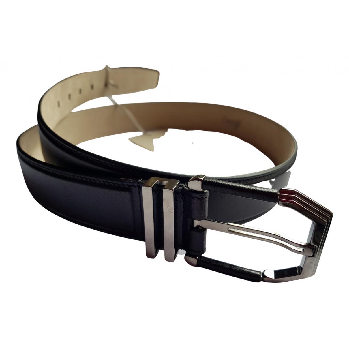 Brioni N Black Leather belt for Men 95 cm