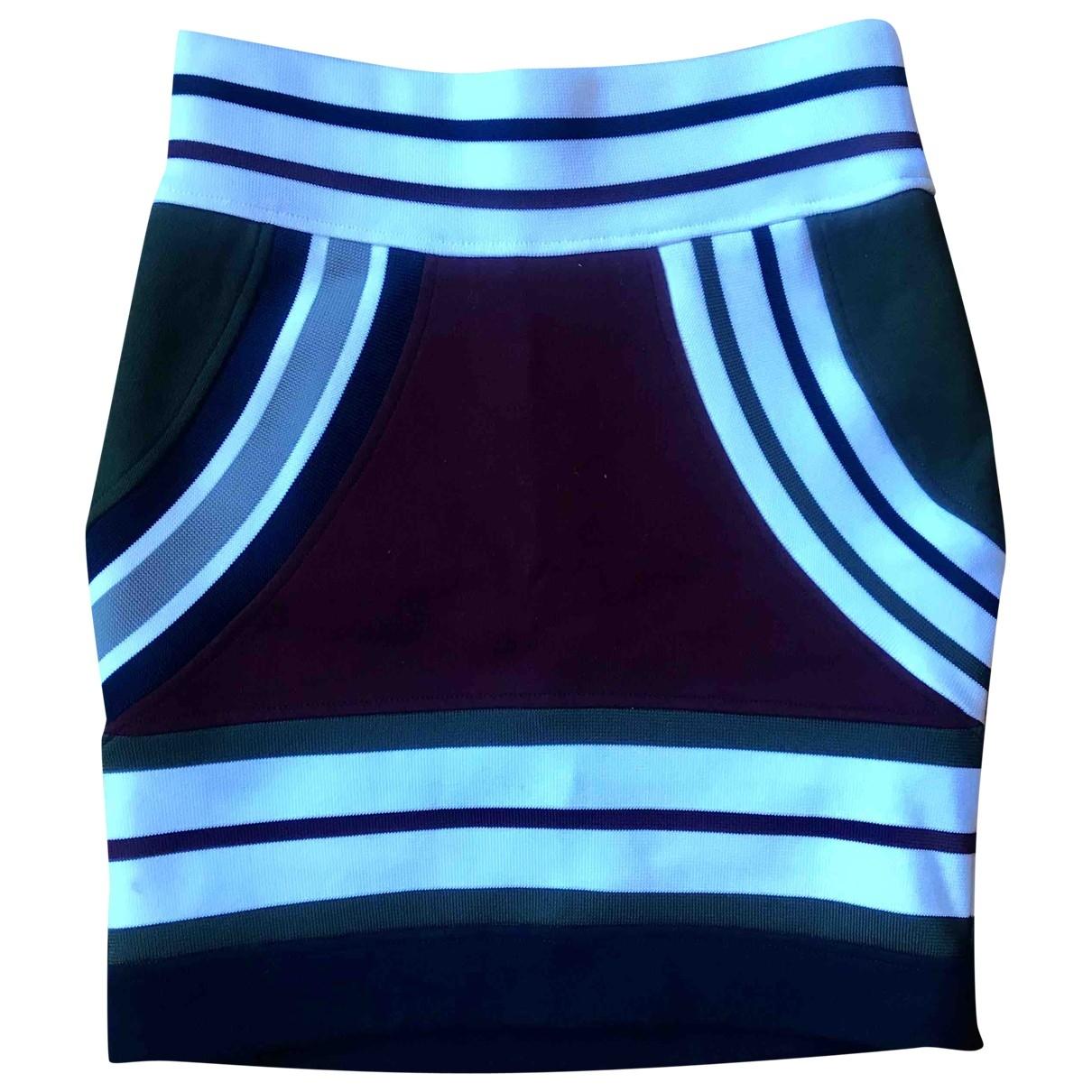 Acne Studios - Jupe   pour femme en coton - elasthane - bordeaux