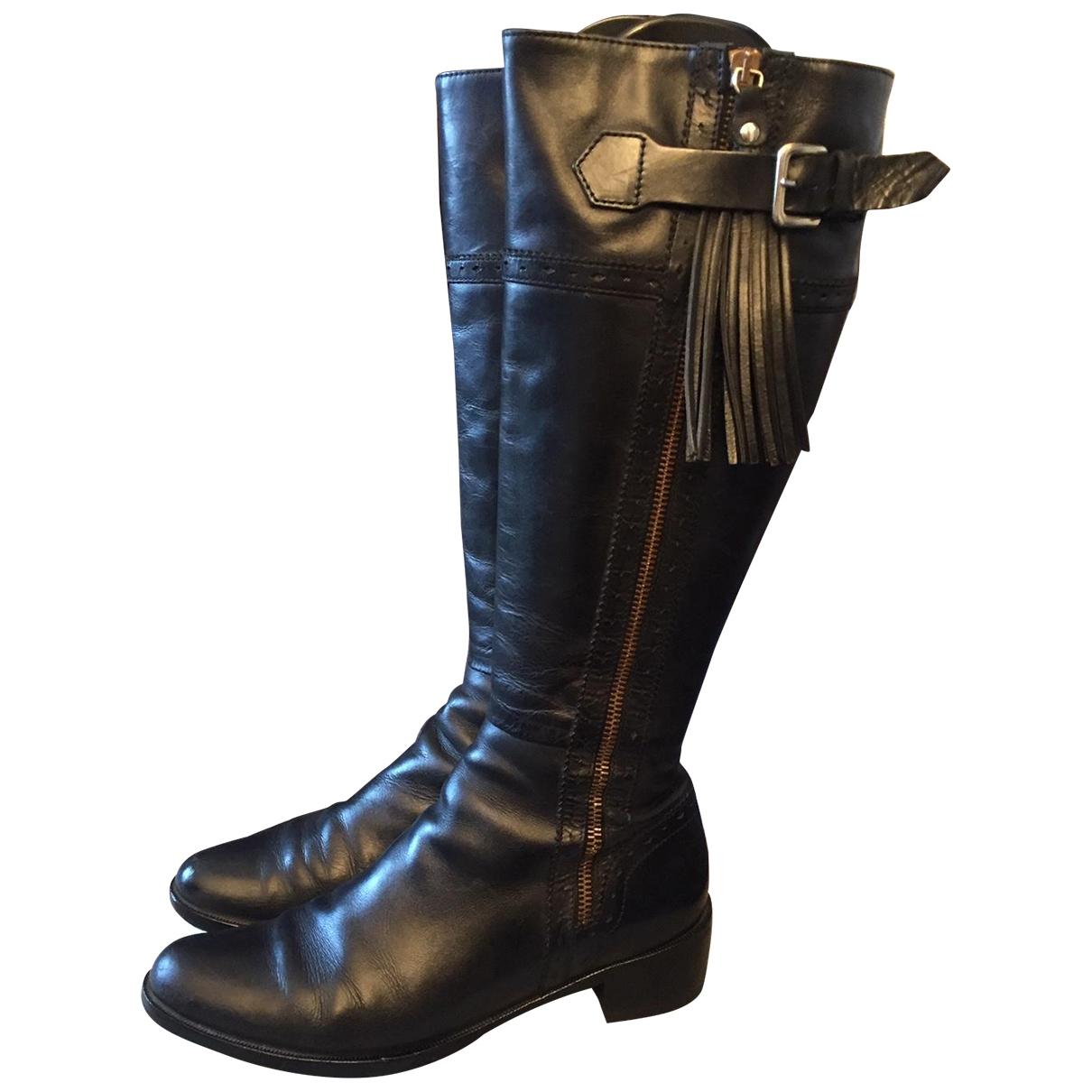 Lk Bennett - Bottes   pour femme en cuir - noir