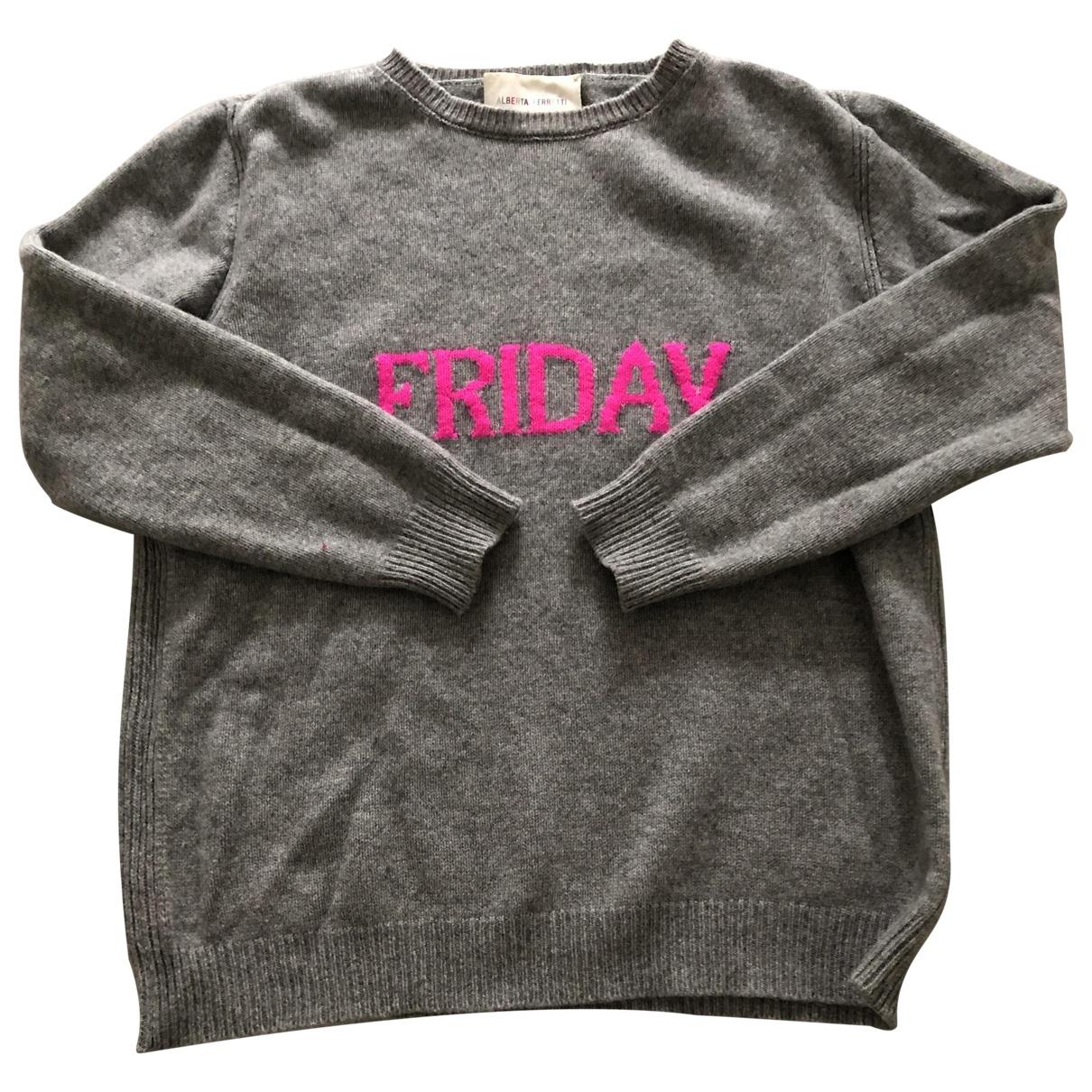 Alberta Ferretti \N Grey Cashmere Knitwear for Women 44 IT