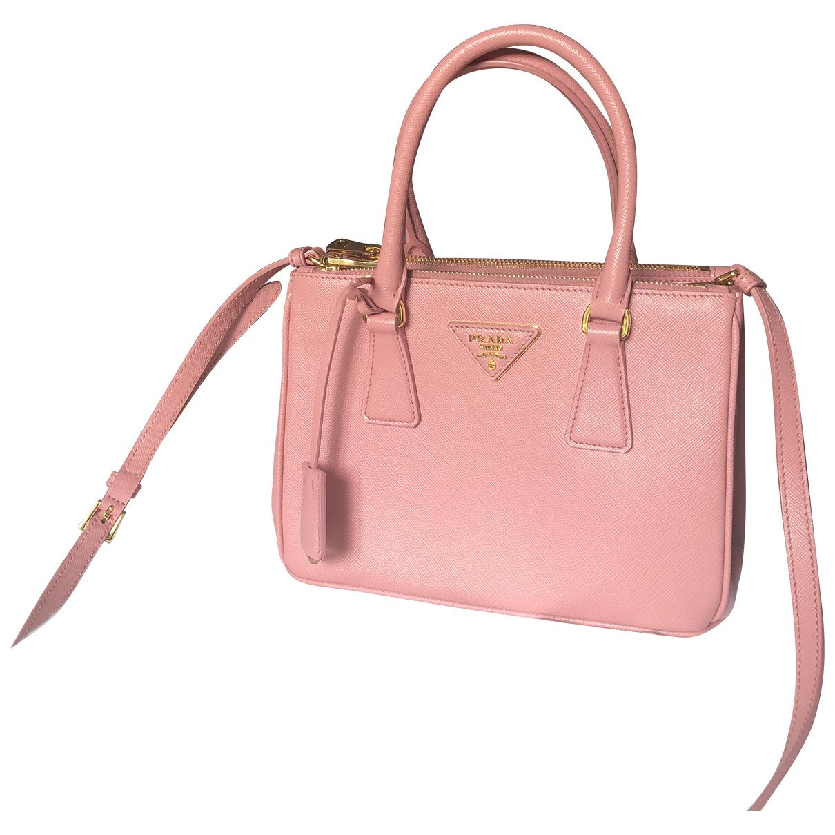 Prada Galleria Pink Leather handbag for Women \N