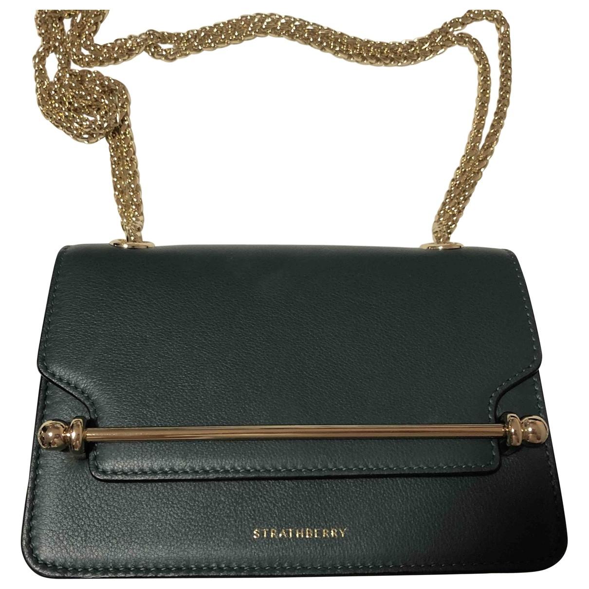 Strathberry \N Handtasche in  Gruen Leder
