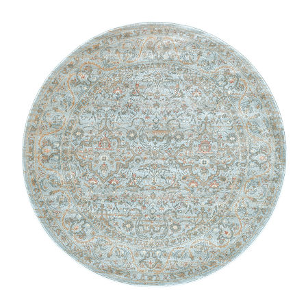 Seriate Rectangular Indoor Rugs, One Size , Blue