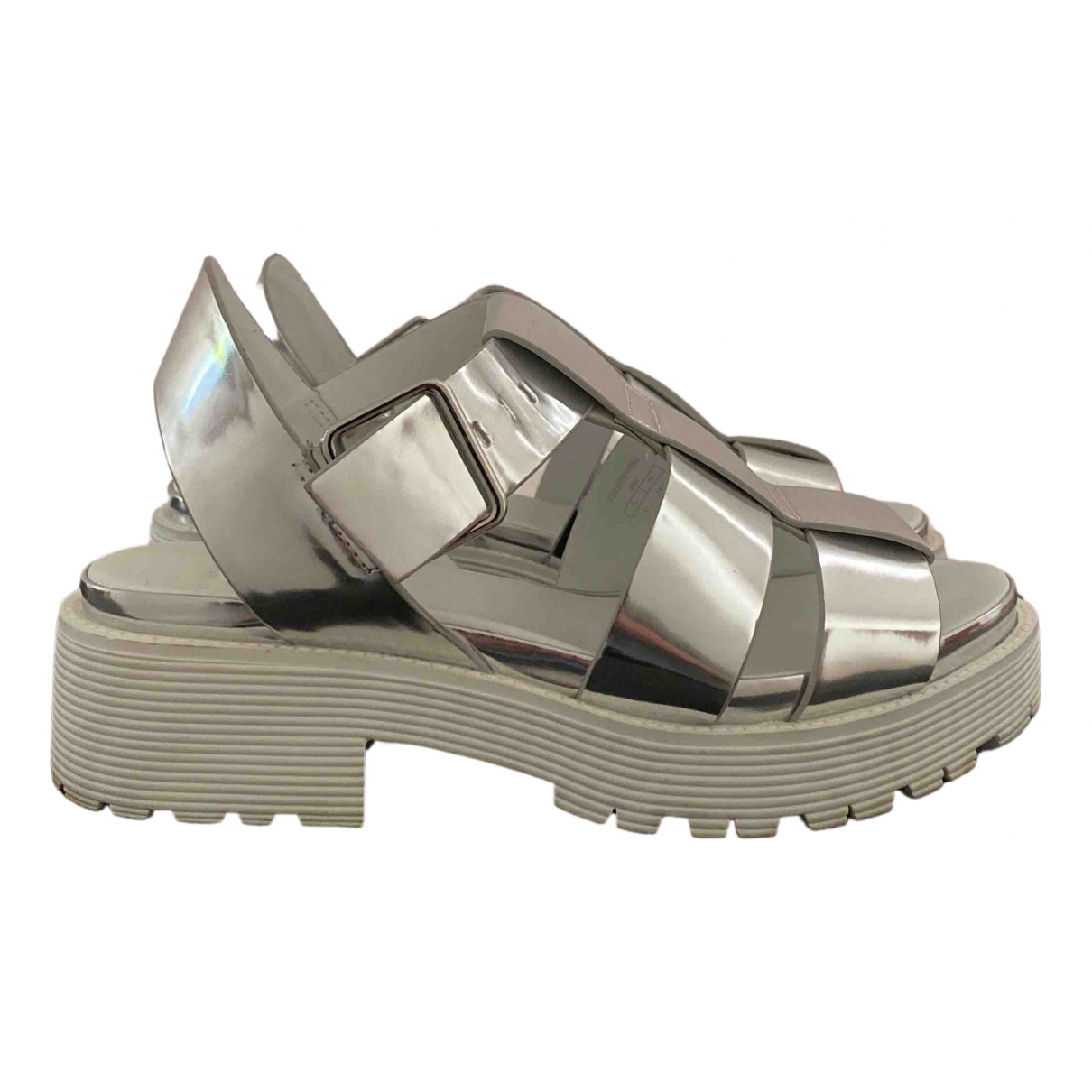 Zara N Silver Patent leather Sandals for Women 37 IT