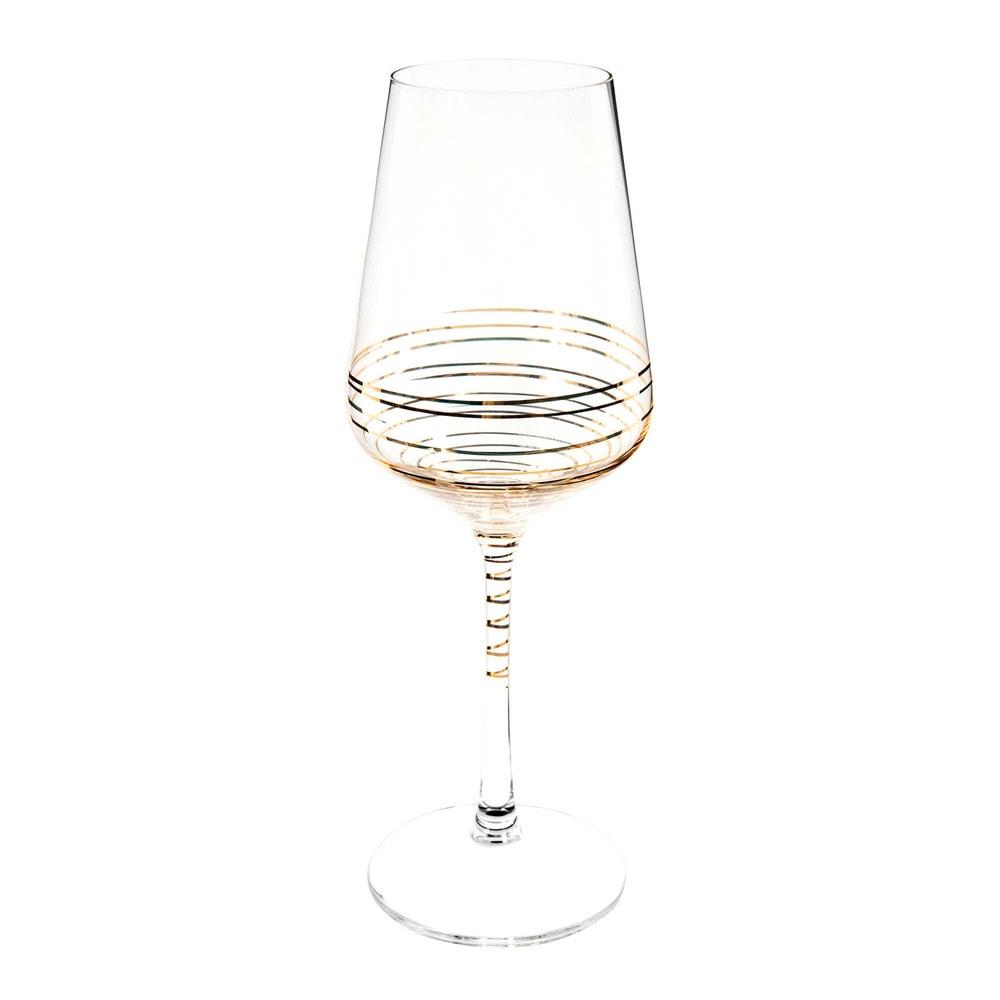 Weinglas gold SPIRALE