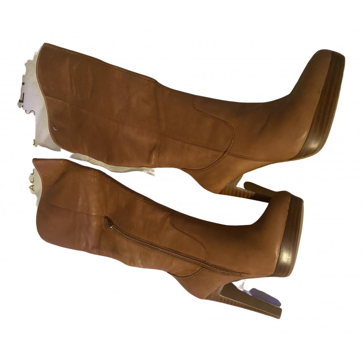 Giuseppe Zanotti - Bottes   pour femme en cuir - camel