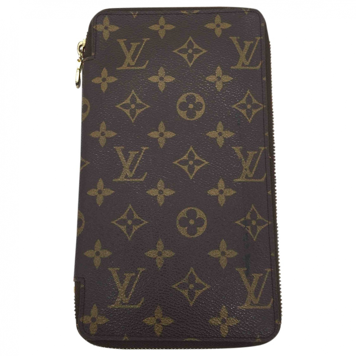 Louis Vuitton Zippy XL Kleinlederwaren in  Braun Leinen