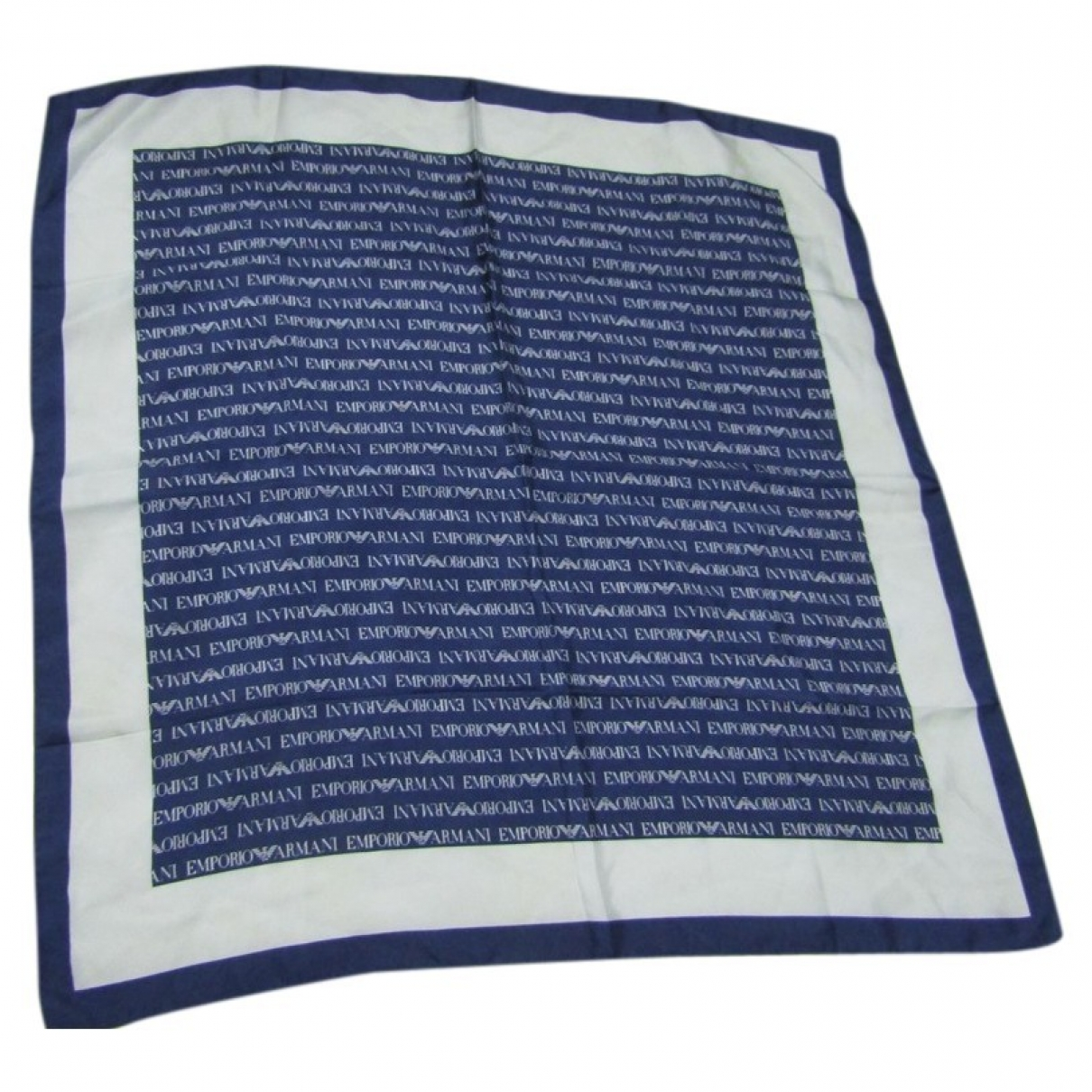 Emporio Armani \N Blue Silk scarf for Women \N