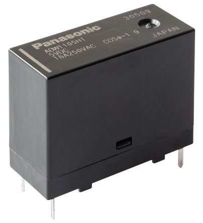 Panasonic SPNO PCB Mount Latching Relay - 16 A, 9V dc For Use In Home Appliances, Industrial Equipment, Lighting (100)