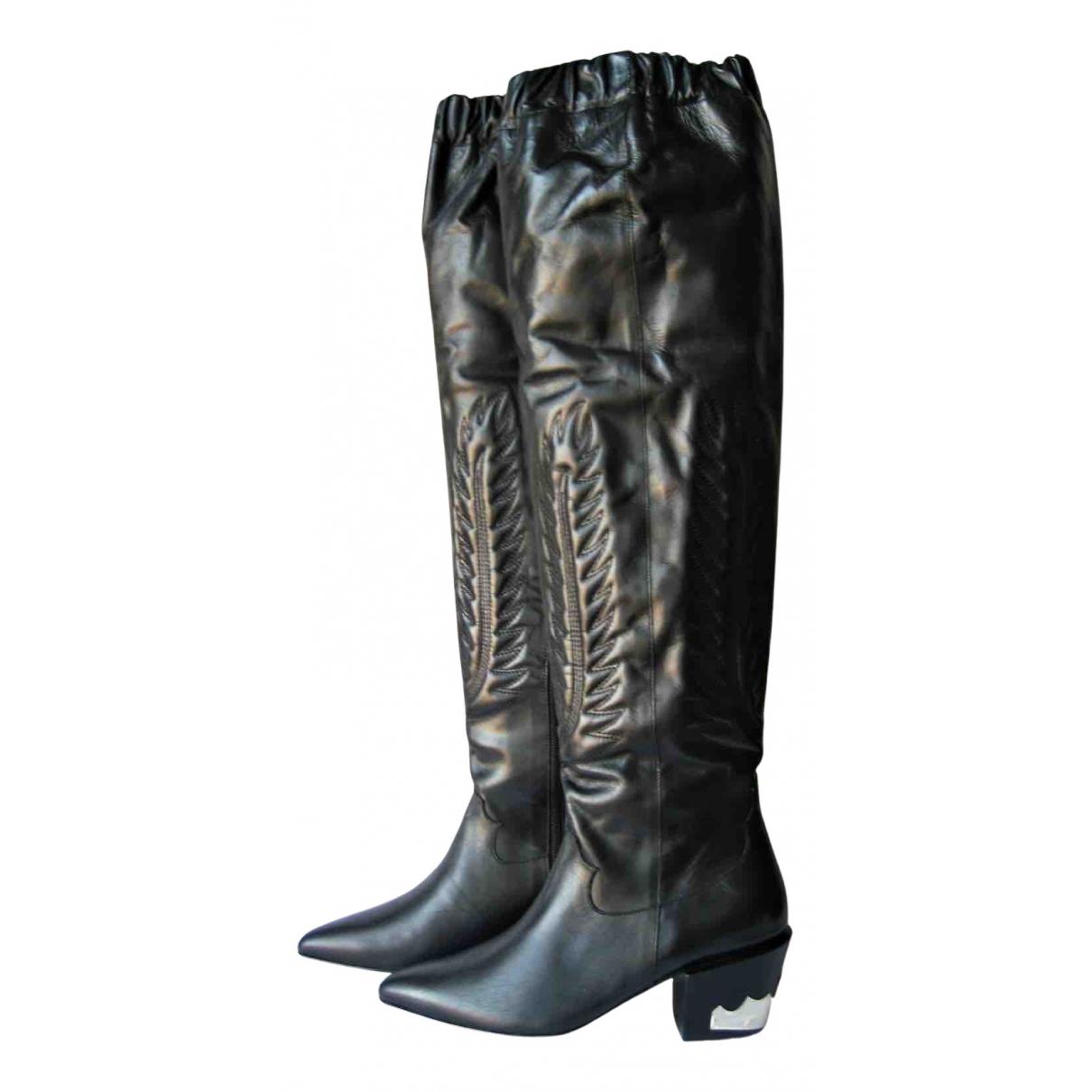 Toga Pulla \N Stiefel in  Schwarz Leder