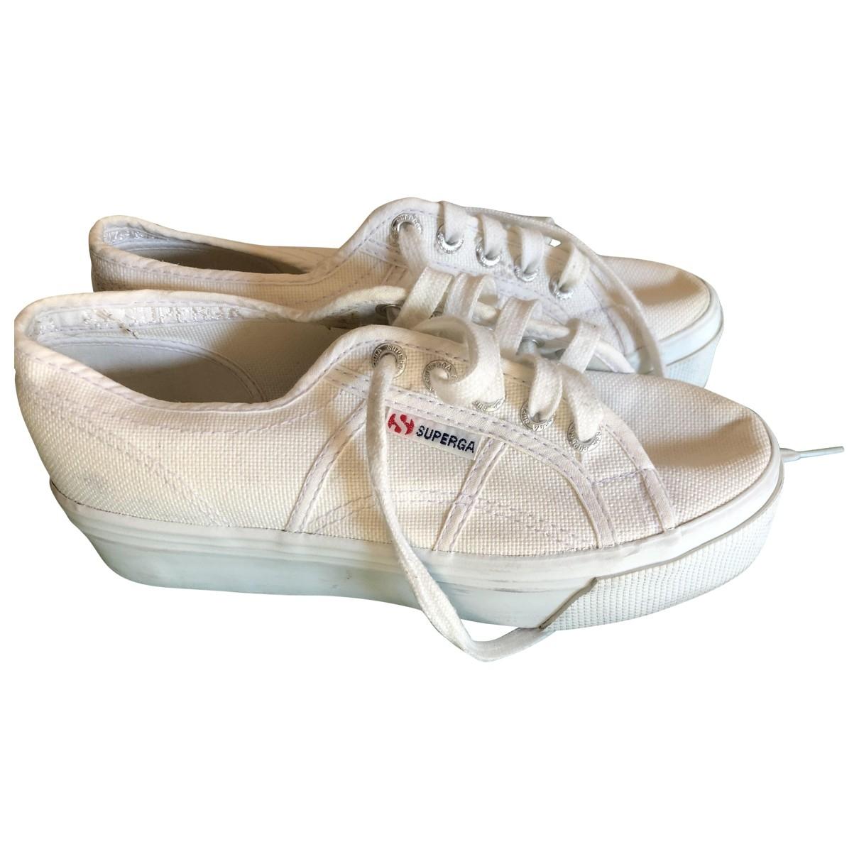 Superga - Sandales   pour femme en toile - blanc