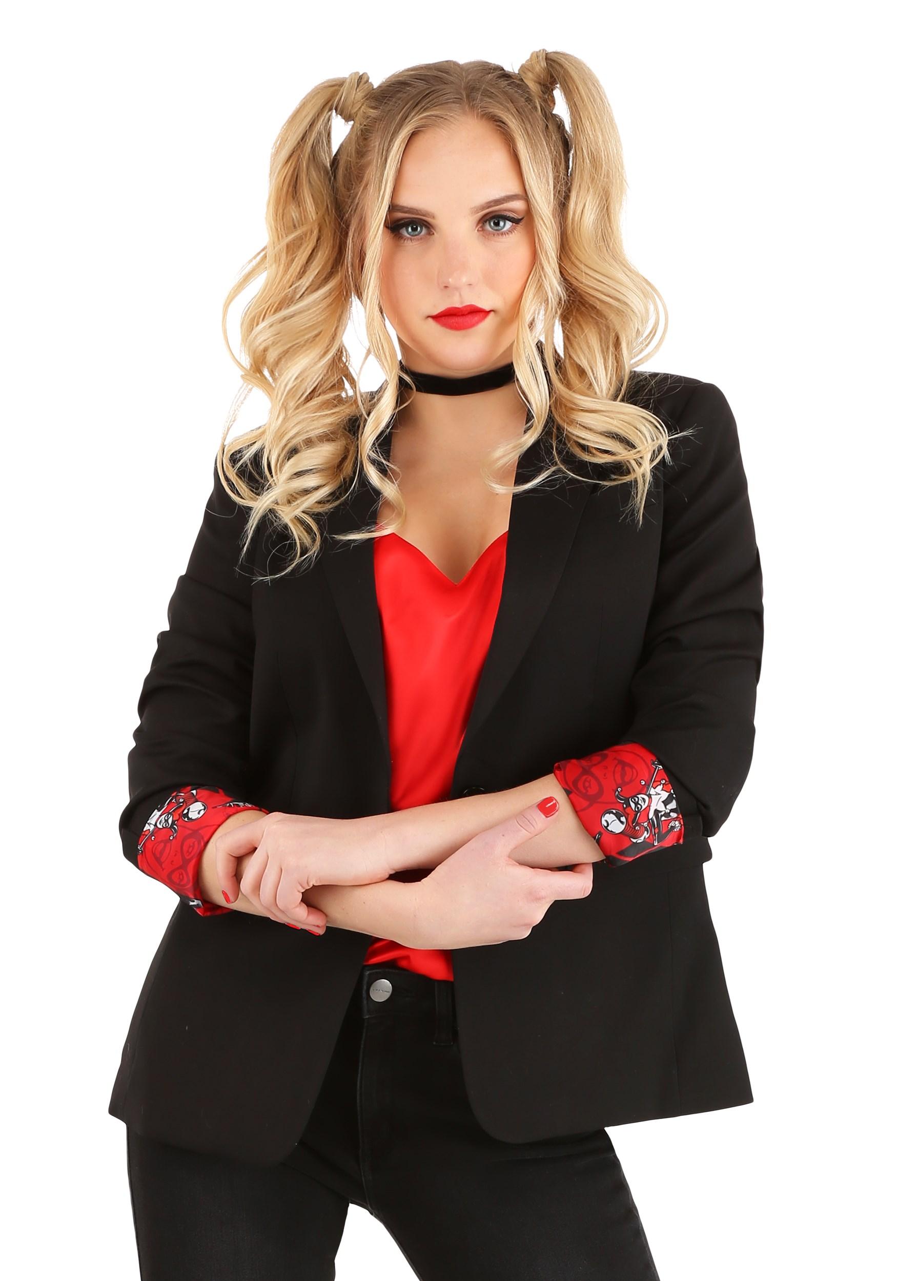 Harley Quinn Womens Suit Blazer