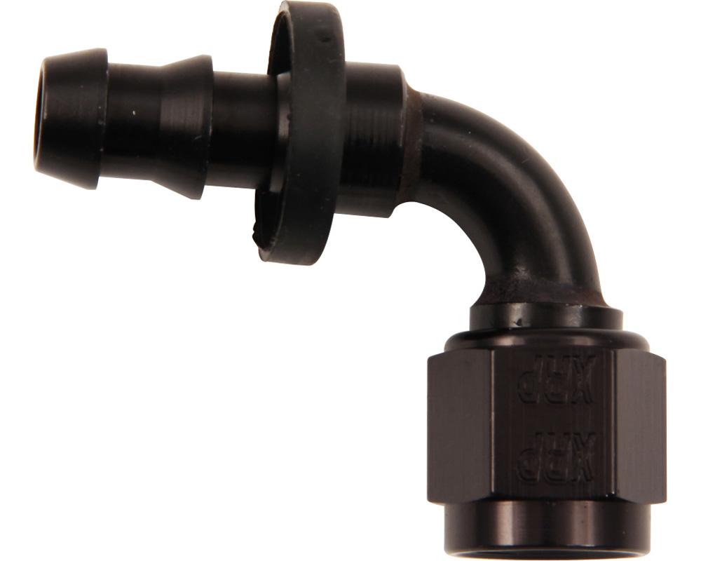 XRP Racing 239008BB #8 90 Deg Push-On Hose End Black