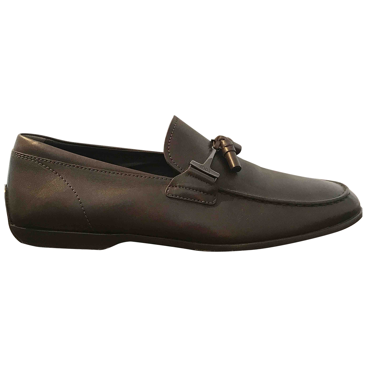 Tod's \N Brown Leather Flats for Men 10 UK