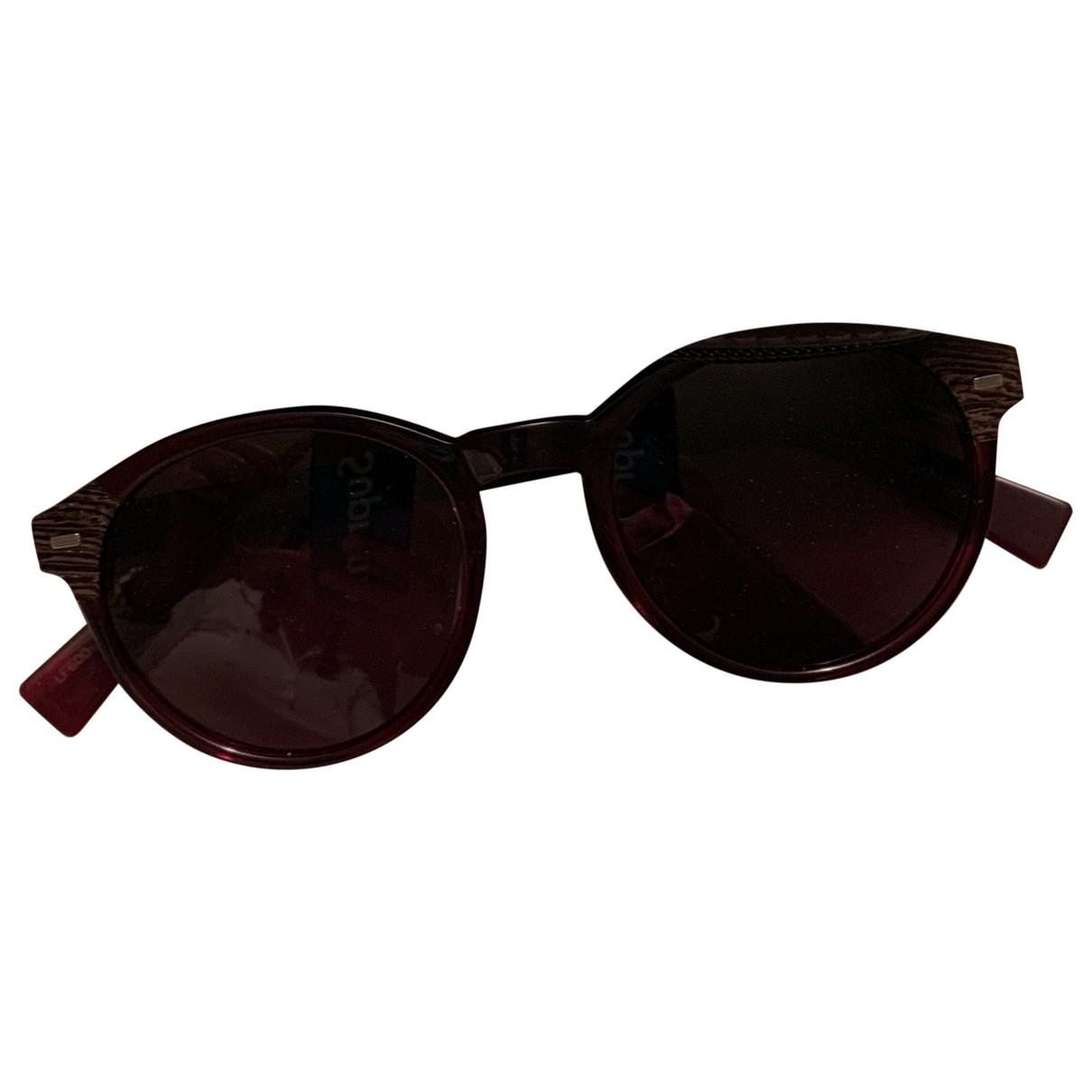 Ermenegildo Zegna \N Sonnenbrillen in  Bordeauxrot Kunststoff