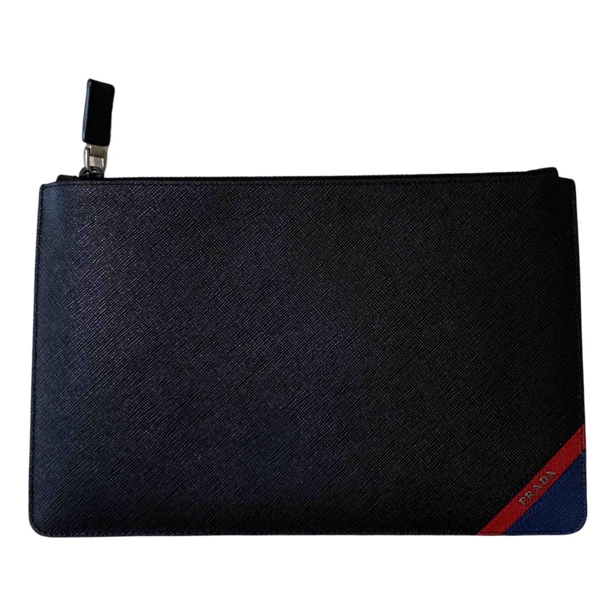 Prada N Black Leather Small bag, wallet & cases for Men N