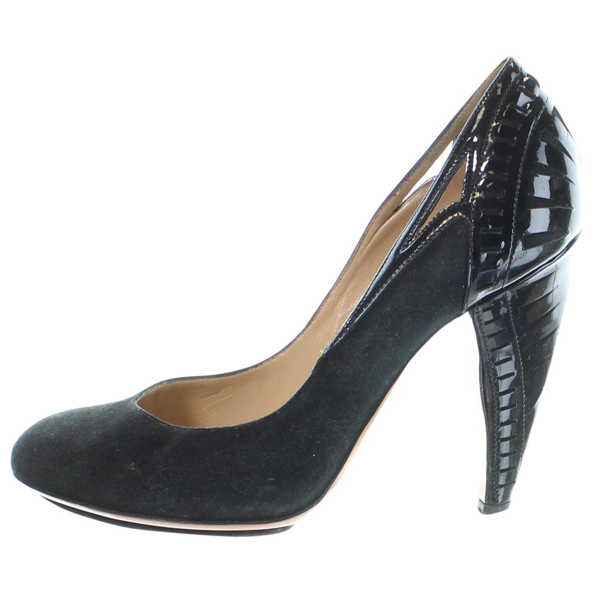 Alberta Ferretti \N Black Suede Heels for Women 37 EU