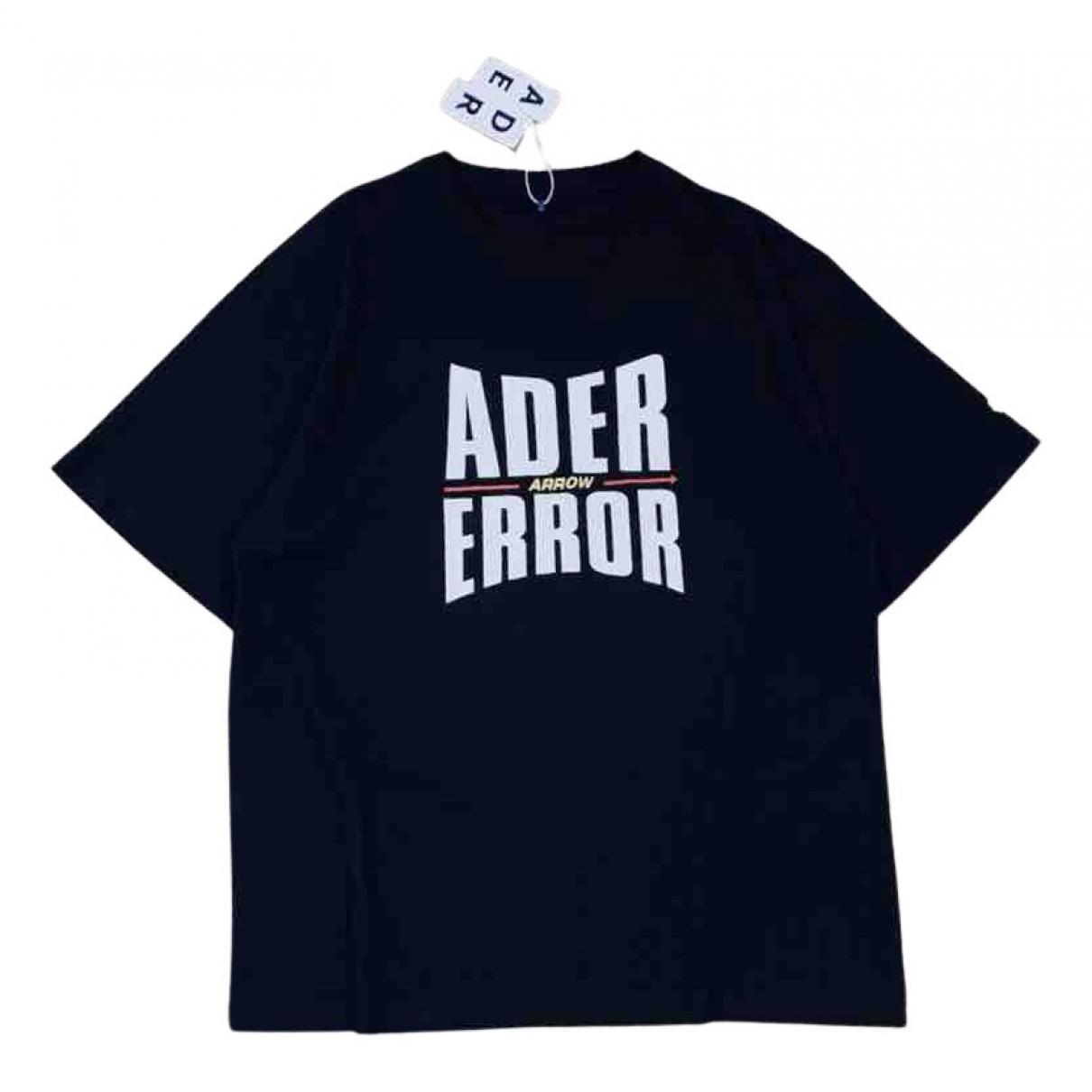 Ader Error N Black Cotton T-shirts for Men M International