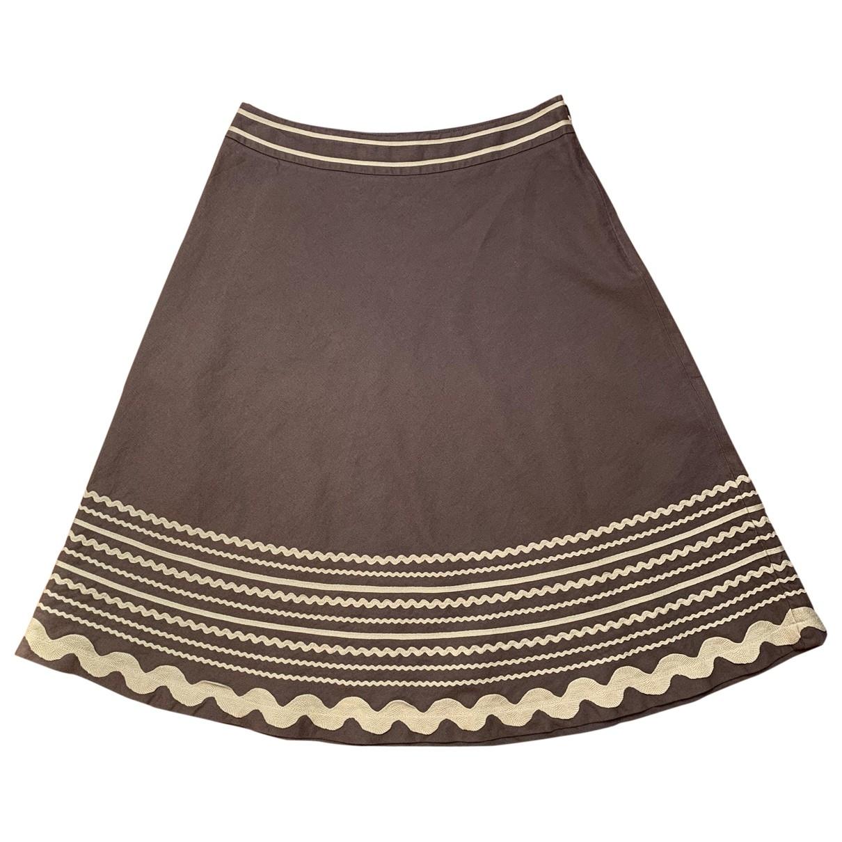 Moschino - Jupe   pour femme en coton - marron