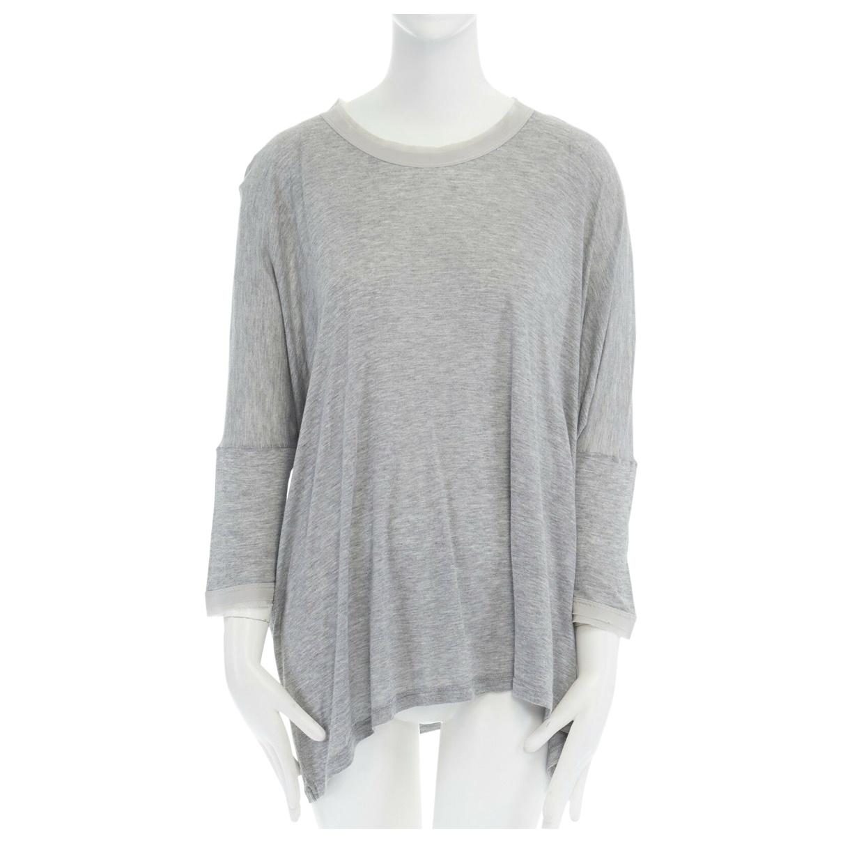 Dolce & Gabbana \N Grey Silk  top for Women 32 FR