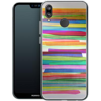 Huawei P20 Lite Silikon Handyhuelle - Colorful Stripes 1 von Mareike Bohmer