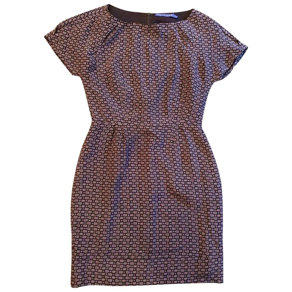 Berenice - Robe   pour femme en soie - violet