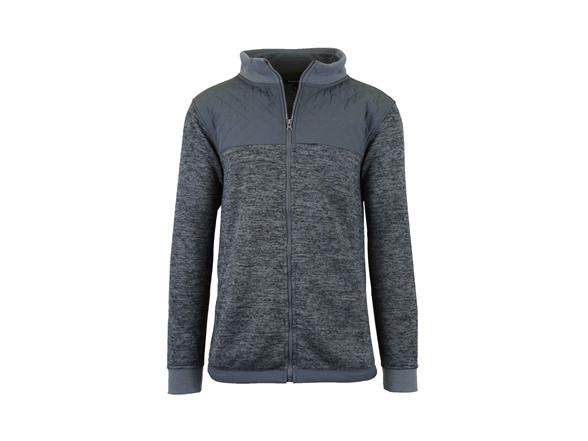 L&m Men's Marled Fleece Lined Hoodie