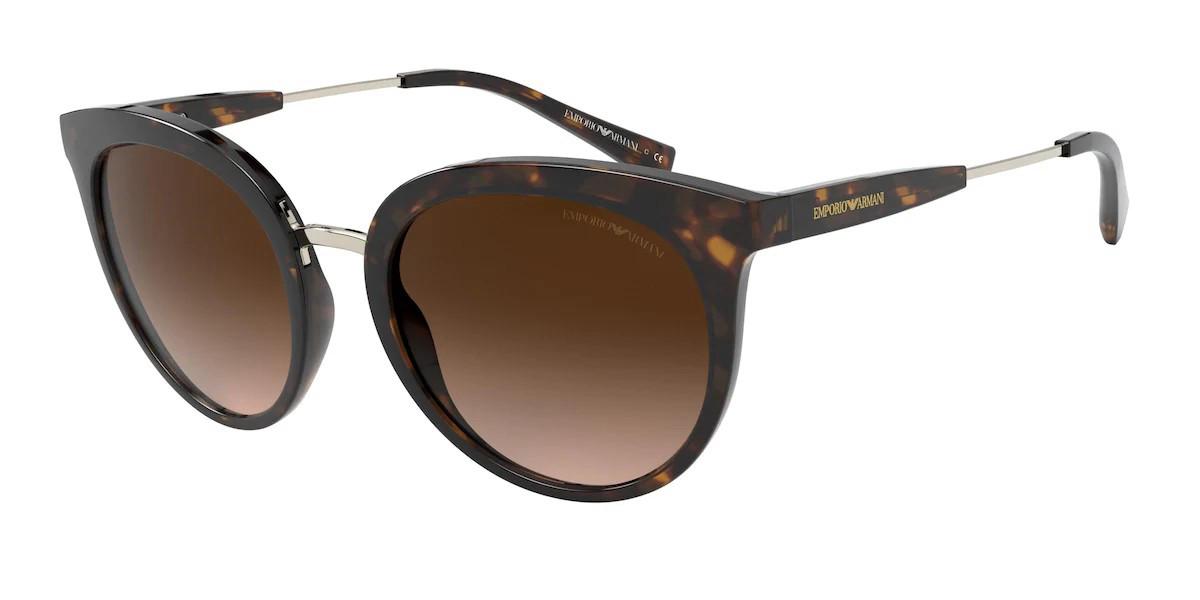 Emporio Armani EA4145F Asian Fit 508913 Women's Sunglasses Tortoise Size 55