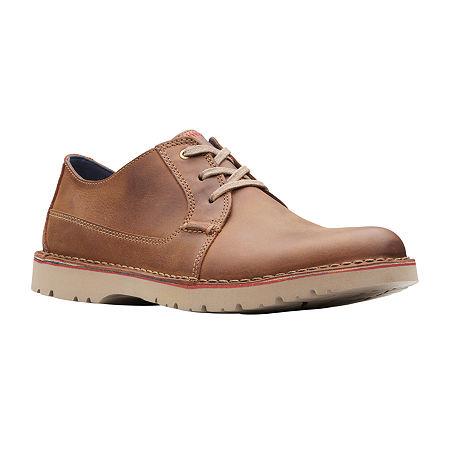 Clarks Mens Vargo Plain Oxford Shoes, 8 1/2 Medium, Brown