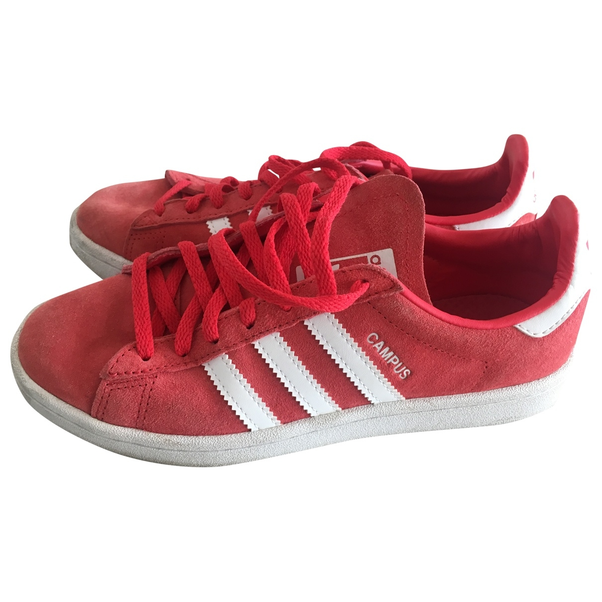 Adidas \N Red Leather Trainers for Women 38 EU