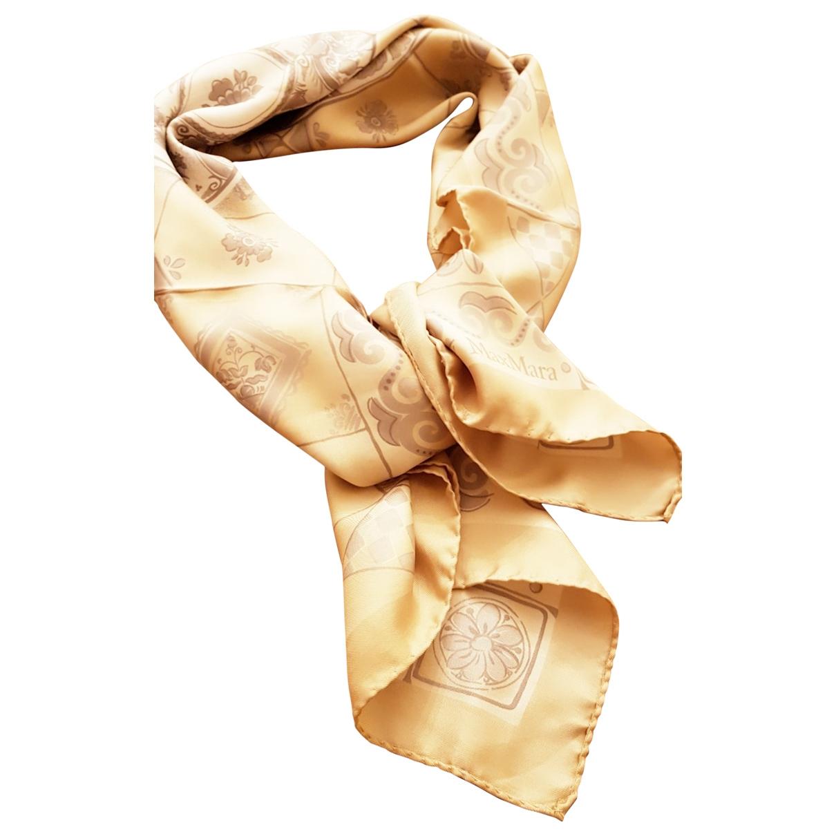 Max Mara Max Mara Atelier Beige Silk scarf for Women \N