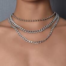 Einfache mehrschichtige Halskette