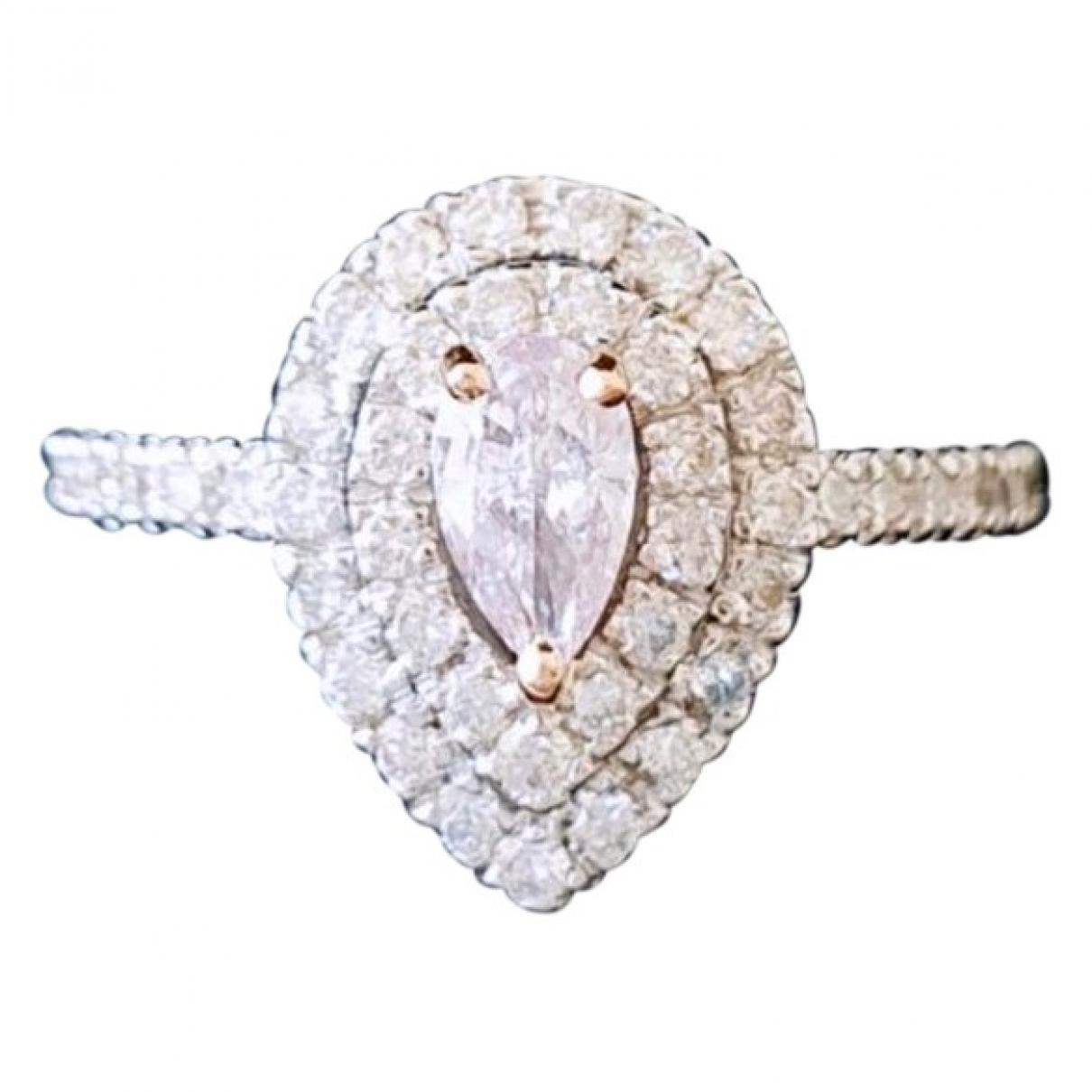 - Bague   pour femme en or blanc - rose