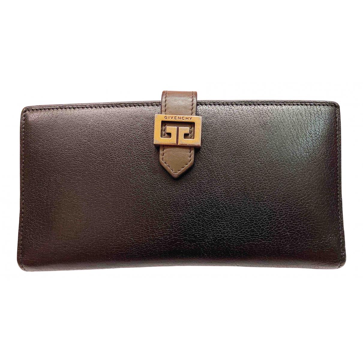 Givenchy - Portefeuille   pour femme en cuir - marron