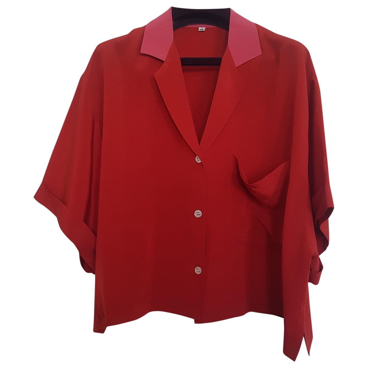 Helmut Lang \N Red Silk  top for Women 38 FR