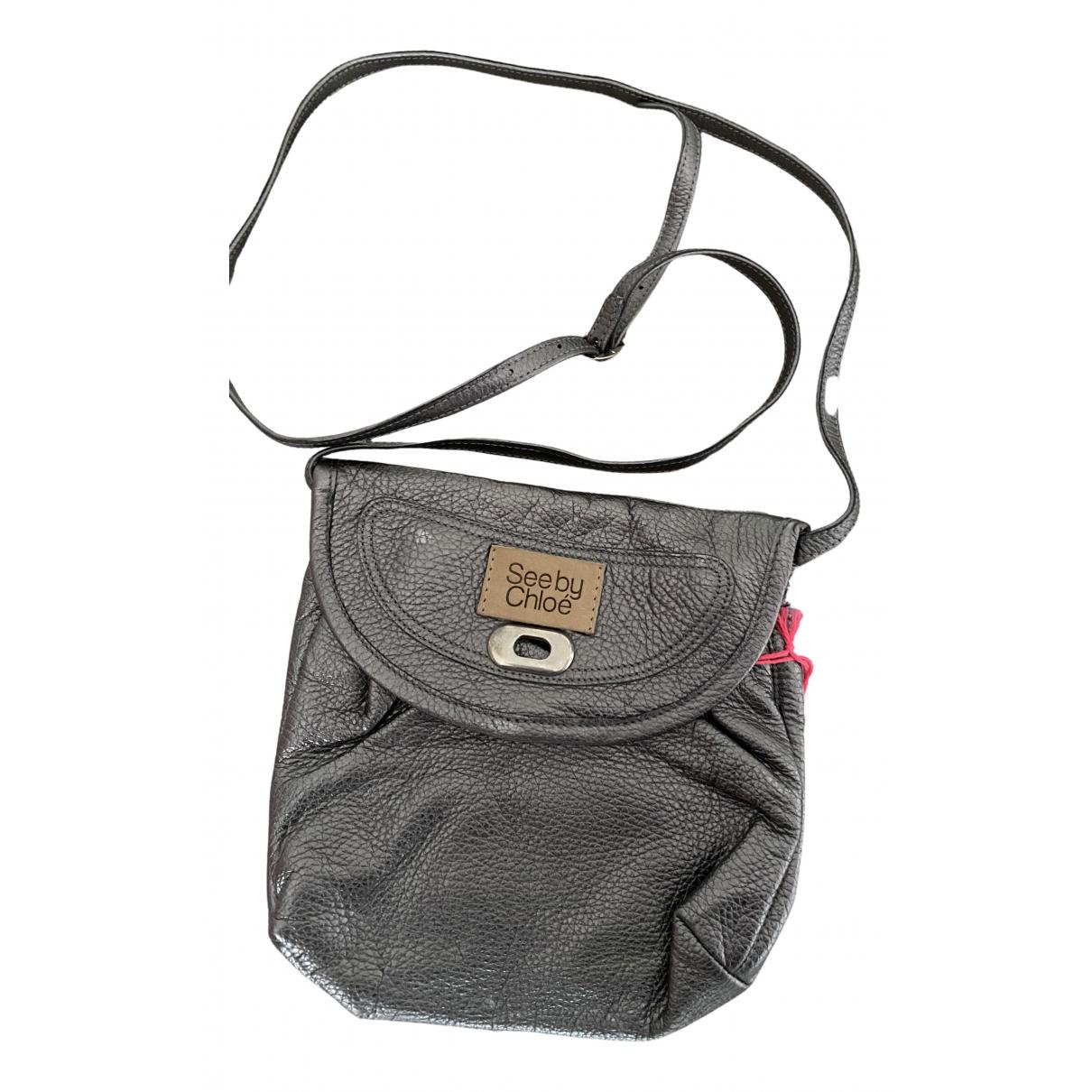See By Chloe \N Handtasche in  Silber Leder