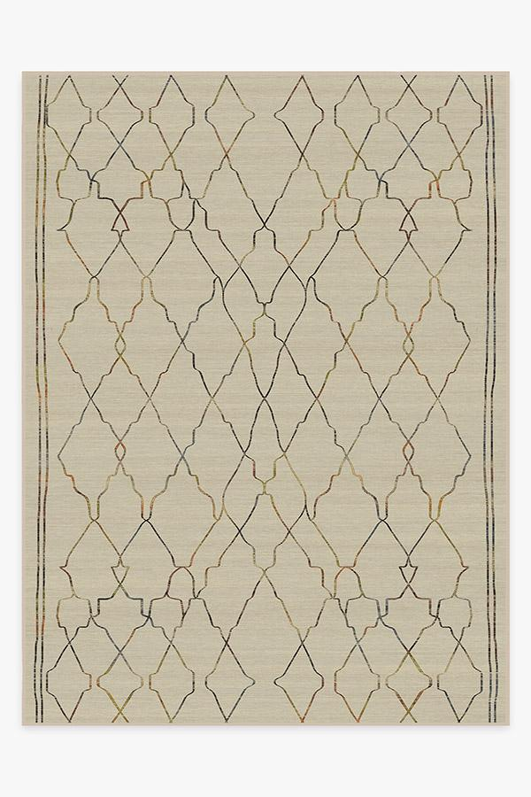 Washable Rug Cover & Pad   Marrakesh Natural Multicolor Rug   Stain-Resistant   Ruggable   9'x12'