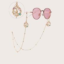 Cadena de gafas con corazon
