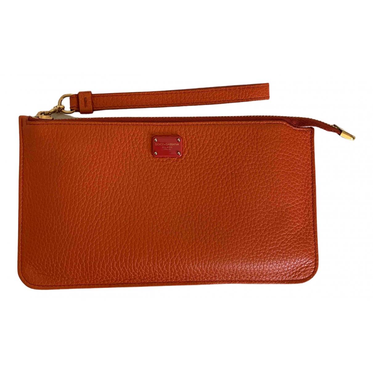 Dolce & Gabbana \N Portemonnaie in  Orange Leder