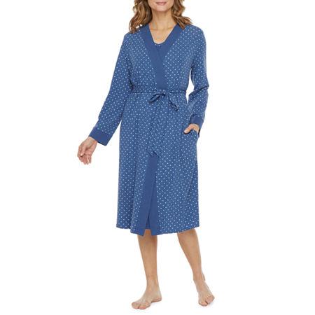 Liz Claiborne Sleeveless Womens 2-pc. Pajama + Robe Sets, Medium , Blue