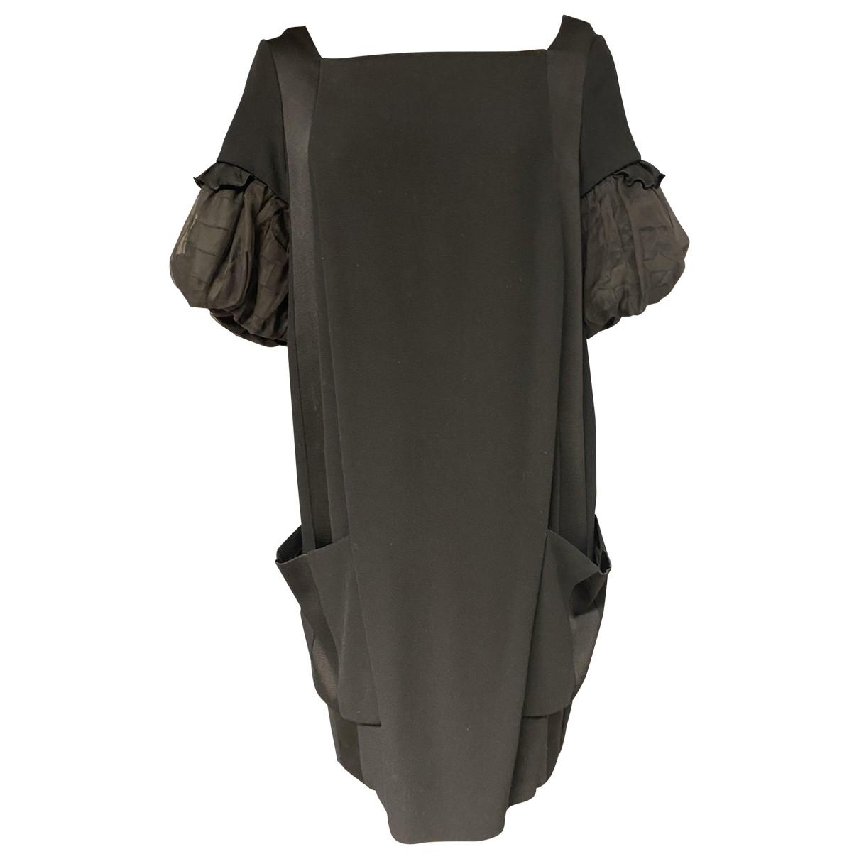 Miu Miu \N Black Wool dress for Women 42 IT