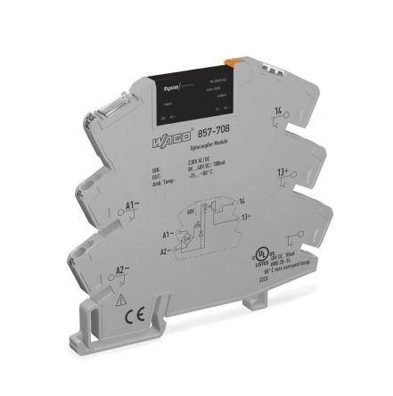 Wago 0.1 A Solid State Relay 3 Phase, AC/DC, DIN Rail, Transistor/Triac, 48 V dc Maximum Load