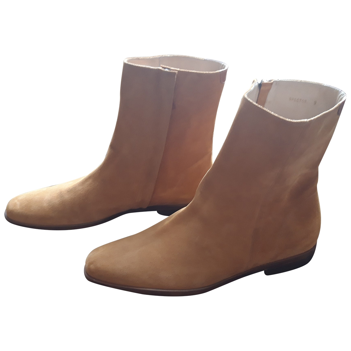 Mr. Hare \N Beige Suede Boots for Men 9 US