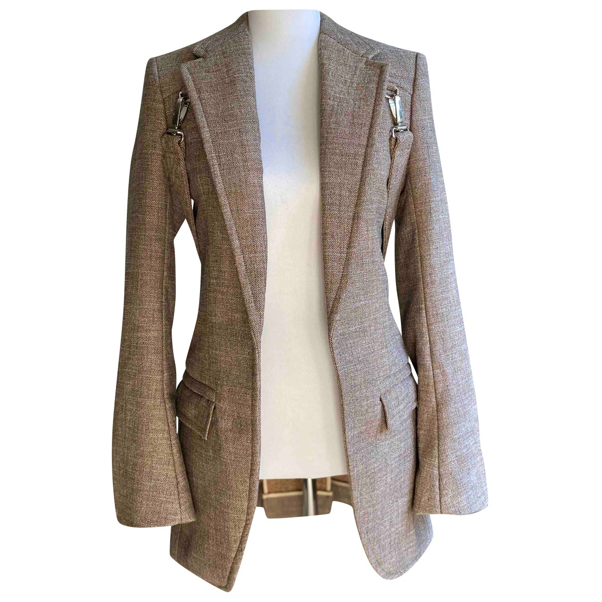 Chloe - Veste   pour femme en coton - marron
