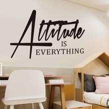 Slogan Print Wall Sticker