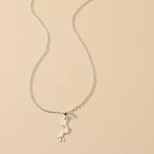 Halskette mit Metall Anhaenger