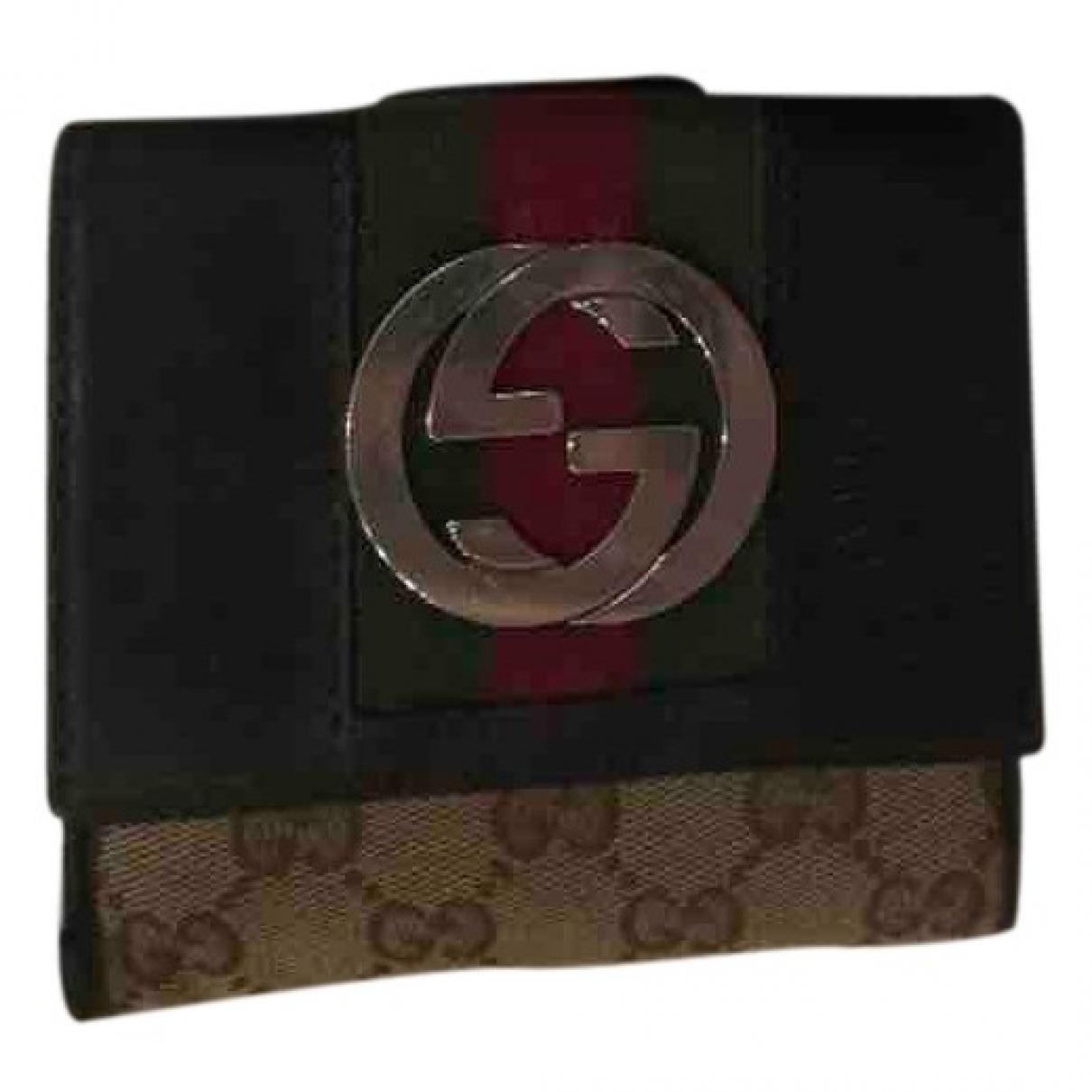 Gucci \N Black Cloth wallet for Women \N