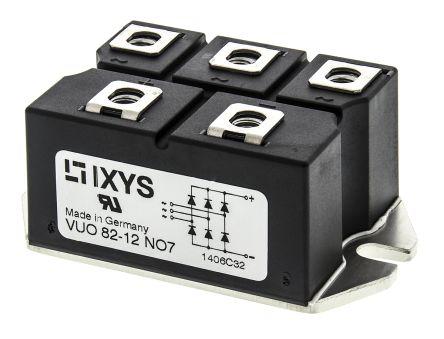 IXYS VUO82-12NO7, 3-phase Bridge Rectifier Module, 88A 1200V, 5-Pin PWS D